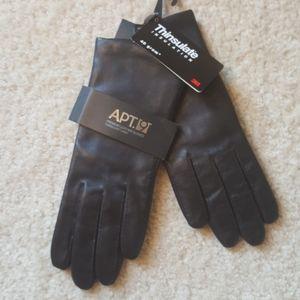 NWT Leather Gloves, Thinsulate, Sz M